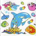 Bathroom and Window stickers, Plastic, Assorted colours, 56cm x 21cm, 1 sheet, (JDC481)